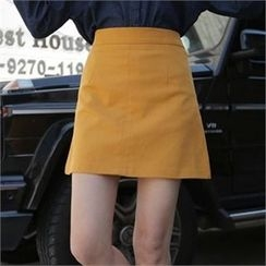 QNIGIRLS - Band-Waist A-Line Skirt