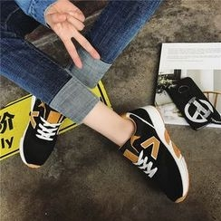 Hipsole - Platform Paneled Sneakers