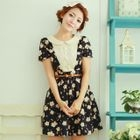 Angel Love - Lace Panel Floral Dress