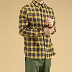 THE COVER - Plaid Loose-Fit Shirt