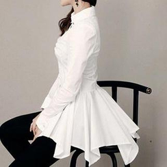Only Eve - Long-Sleeve Ruffle Blouse
