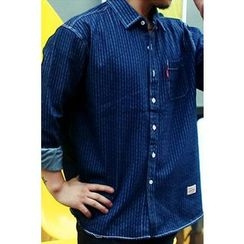 Ohkkage - Stripe Denim Shirt