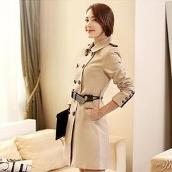 Paradiso - Double-Breasted Trench Coat with Belt