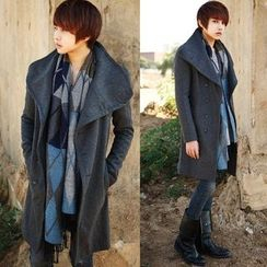 Bay Go Mall - Asymmetric Woolen Coat