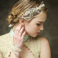 Neostar - Bridal Faux Pearl Tiara