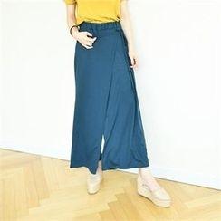 GLAM12 - Elastic-Waist Wide-Leg Pants