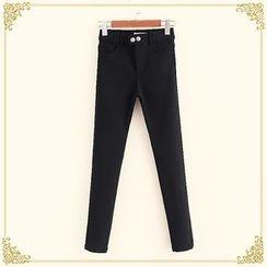 布衣天使 - 纯色窄脚裤