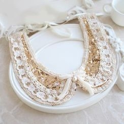 ABOX - Sequined Lace Decorative Collar