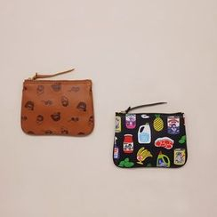 Full House - Faux Leather Coin Purse / Moble Cable Tidy Pouch