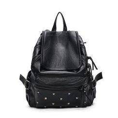 Tasche - Set : Faux Leather Backpack + Shoulder Bag + Pouch