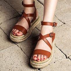 MIAOLV - Espadrille Roman Sandals