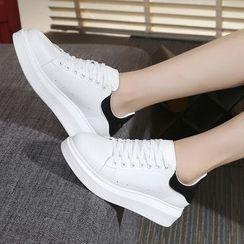 Hannah - Contrast Heel Tab Sneakers