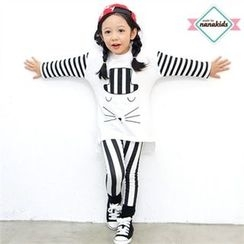 nanakids - Kids Stripe-Detail Dip-Back T-Shirt