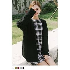 10WORLD - Open-Front Chunky Cardigan