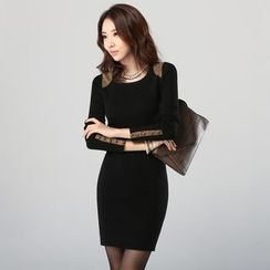 Lovebirds - Fleece-Lined Sheath Dress