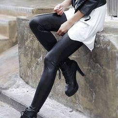 Daisyfield - 人造皮內搭褲