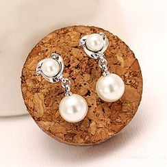 WOQIAO - Pearl Sterling Silver Earrings