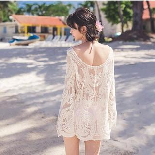 Lady J Swimwear - Long-Sleeved Lace Swimsuit Cover-up