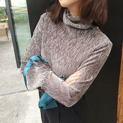 Bodacious! - Turtleneck Ruffled Top