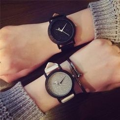 InShop Watches - Glitter Faux-Leather Strap Watch