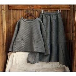 tete - 套裝: 飾口袋純色上衣 + 純色長褲