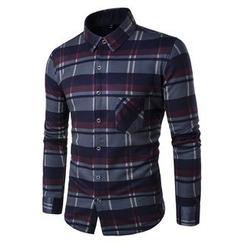 百高 - 格子长袖衬衫
