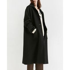 Someday, if - Dual-Pocket Single-Breasted Cotton Coat