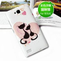 Kindtoy - Cats Print Huawei Honor 3C Case