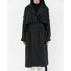 Someday, if - Capelet Trench Coat with Sash