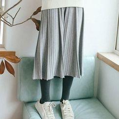 TREEZIN - 多褶针织中裙