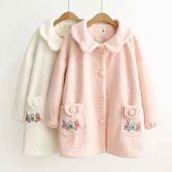 Musume - Embroidered Button Coat