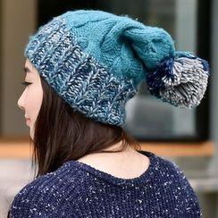Amandier - Melange Panel Cable Knit Beanie