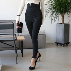 DABAGIRL - High-Waist Zip-Back Skinny Pants