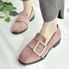 SouthBay Shoes - Square Buckle Loafers