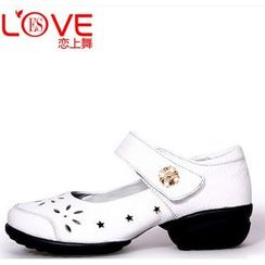 Danceon - Genuine Leather Velcro Dance Slip Ons