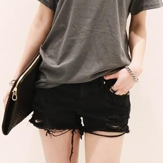 NANING9 - Distressed Shorts