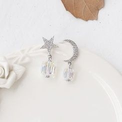 Love Generation - Austrian Crystal Non-Matching Earrings