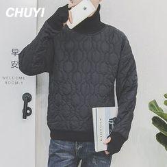 Chuoku - High Neck Padded Sweatshirt