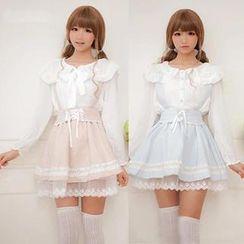 GOGO Girl - Lace Trim Detachable Suspender Skirt
