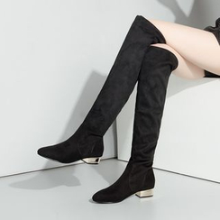JY Shoes - Over-the-Knee Low Heel Boots