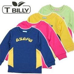 TWINSBILLY - Kids Contrast-Trim Pullover