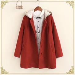 布衣天使 - 連帽單排扣大衣