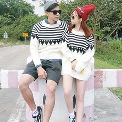 Cattie - Couple Matching Patterned Sweater