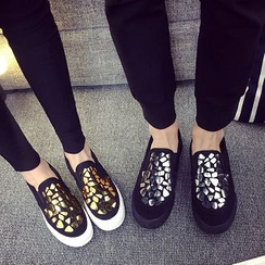 Solejoy - Glitter Couple Slip-On Sneakers
