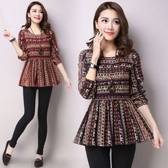 Diosa - Long-Sleeve Patterned T-Shirt