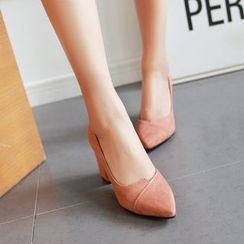 Gizmal Boots - Chunky Heel Pointy Pumps