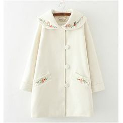 Citree - Embroidered Knit Coat