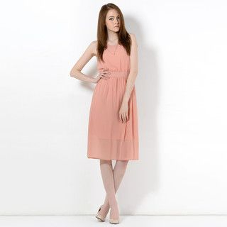 59 Seconds - Tie-Back Sleeveless Midi Dress