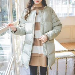 JUSTONE - Round-Neck Zip-Up Padded Coat