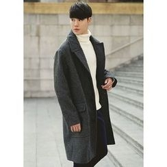 JOGUNSHOP - Single-Breasted Wool Blend Coat